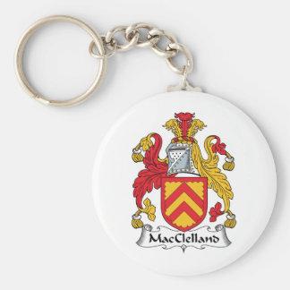 Escudo de la familia de MacClelland Llavero Redondo Tipo Pin