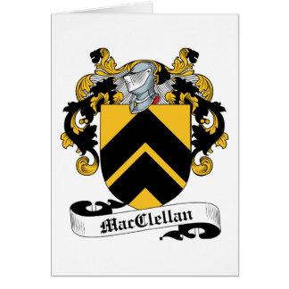 Escudo de la familia de MacClelland Tarjeta De Felicitación