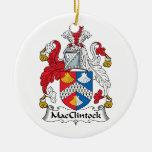 Escudo de la familia de MacClintock Ornamentos De Navidad
