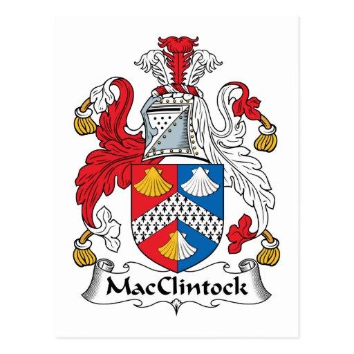Escudo de la familia de MacClintock Postales