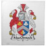 Escudo de la familia de MacClintock Servilleta Imprimida