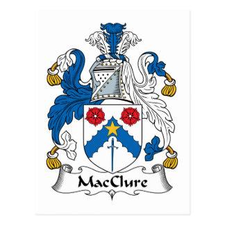 Escudo de la familia de MacClure Tarjeta Postal