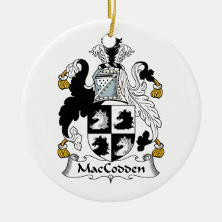 Escudo de la familia de MacCodden Adorno Redondo De Cerámica