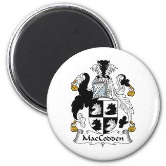 Escudo de la familia de MacCodden Imán Redondo 5 Cm