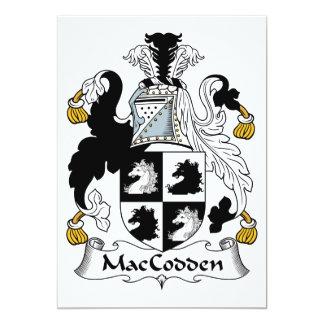 """Escudo de la familia de MacCodden Invitación 5"""" X 7"""""""