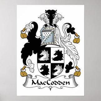 Escudo de la familia de MacCodden Póster