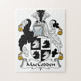 Escudo de la familia de MacCodden Rompecabezas Con Fotos