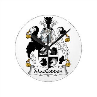 Escudo de la familia de MacCodden Reloj Redondo Mediano