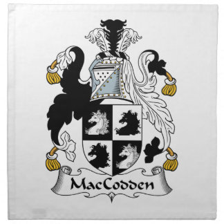 Escudo de la familia de MacCodden Servilleta De Papel