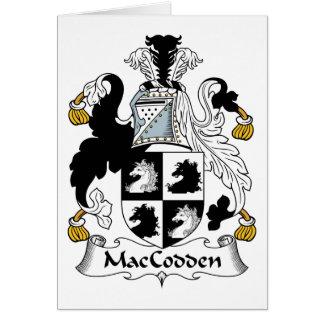 Escudo de la familia de MacCodden Tarjeta De Felicitación