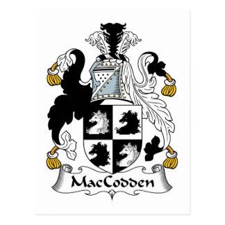 Escudo de la familia de MacCodden Tarjeta Postal