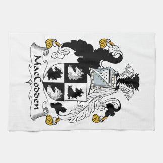 Escudo de la familia de MacCodden Toallas De Mano