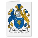 Escudo de la familia de MacCoglan Tarjeton