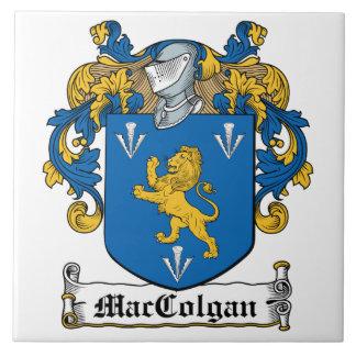 Escudo de la familia de MacColgan Azulejo Cuadrado Grande