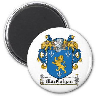 Escudo de la familia de MacColgan Imán Redondo 5 Cm