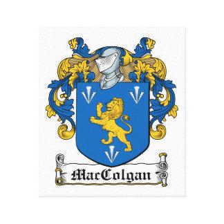 Escudo de la familia de MacColgan Impresion De Lienzo