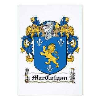 """Escudo de la familia de MacColgan Invitación 5"""" X 7"""""""