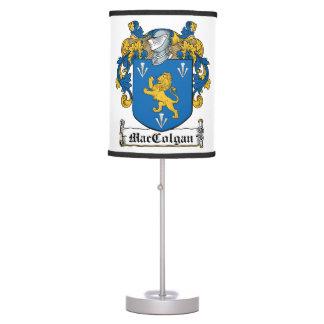 Escudo de la familia de MacColgan Lámpara De Escritorio