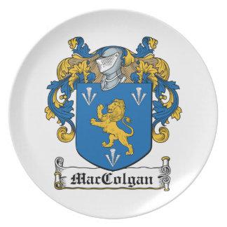 Escudo de la familia de MacColgan Plato De Cena
