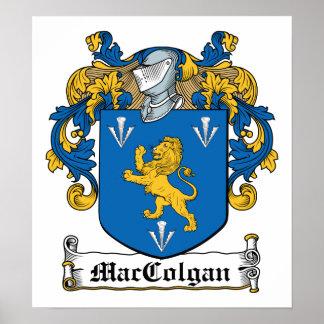 Escudo de la familia de MacColgan Póster