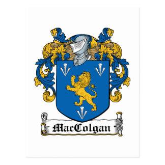 Escudo de la familia de MacColgan Tarjetas Postales
