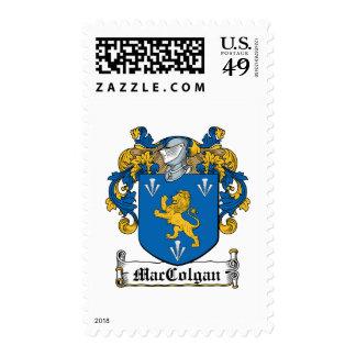 Escudo de la familia de MacColgan Timbres Postales