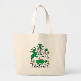Escudo de la familia de MacConnell Bolsa Tela Grande
