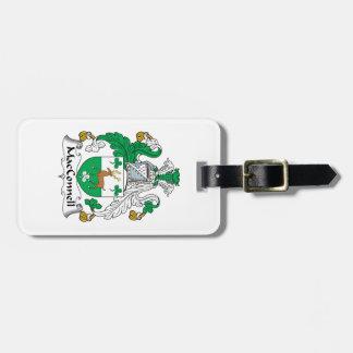 Escudo de la familia de MacConnell Etiquetas Maletas