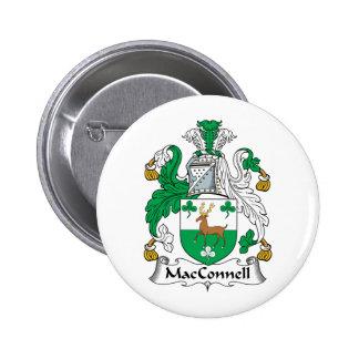 Escudo de la familia de MacConnell Pin Redondo 5 Cm