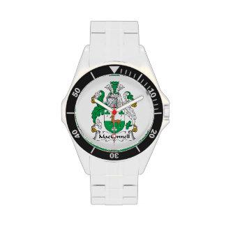 Escudo de la familia de MacConnell Relojes
