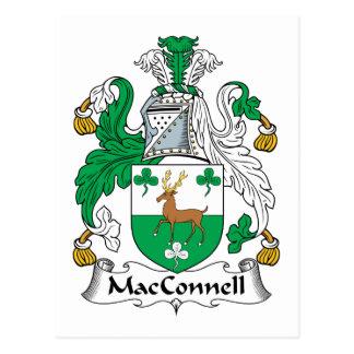 Escudo de la familia de MacConnell Tarjeta Postal