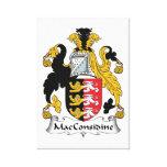 Escudo de la familia de MacConsidine Impresión De Lienzo