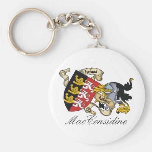 Escudo de la familia de MacConsidine Llavero Redondo Tipo Pin