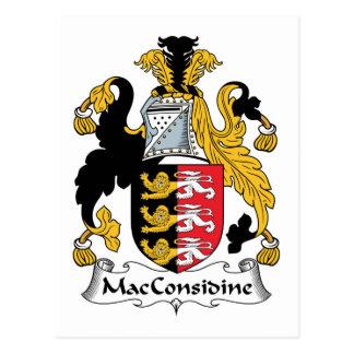 Escudo de la familia de MacConsidine Tarjetas Postales