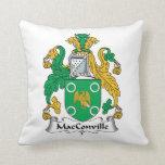 Escudo de la familia de MacConville Almohada