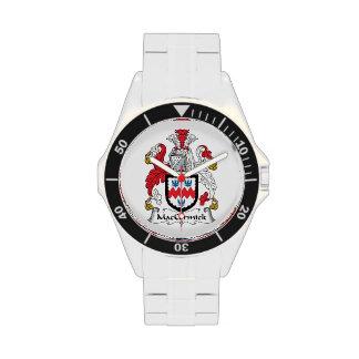 Escudo de la familia de MacCormick Reloj