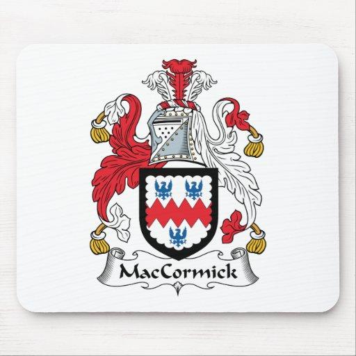 Escudo de la familia de MacCormick Tapete De Ratones
