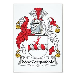 """Escudo de la familia de MacCorquodale Invitación 5"""" X 7"""""""