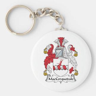 Escudo de la familia de MacCorquodale Llavero Redondo Tipo Pin