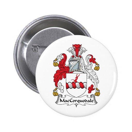 Escudo de la familia de MacCorquodale Pin