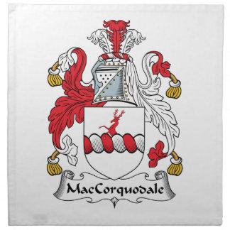 Escudo de la familia de MacCorquodale Servilletas Imprimidas