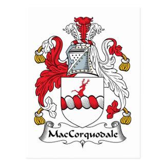 Escudo de la familia de MacCorquodale Tarjeta Postal