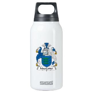 Escudo de la familia de MacCotter Botella Isotérmica De Agua