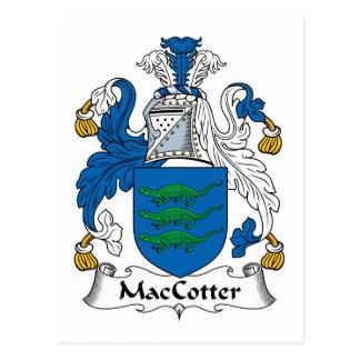 Escudo de la familia de MacCotter Tarjeta Postal