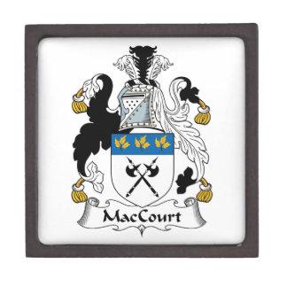 Escudo de la familia de MacCourt Caja De Regalo De Calidad
