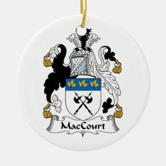 Escudo de la familia de MacCourt Adorno Redondo De Cerámica