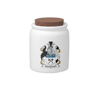 Escudo de la familia de MacCourt Platos Para Caramelos