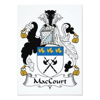 """Escudo de la familia de MacCourt Invitación 5"""" X 7"""""""