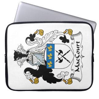 Escudo de la familia de MacCourt Mangas Portátiles