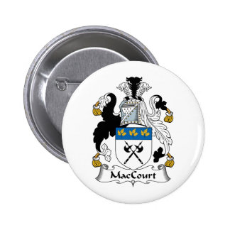 Escudo de la familia de MacCourt Pin Redondo 5 Cm